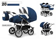 Carro carrito gemelar 3 piezas capazos sillas grupo accesorios Duet 12 colores.