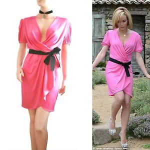 DOLCE & GABBANA D&G vintage pink silk Amanda Holden DRESS size UK 12 US 8 I 44