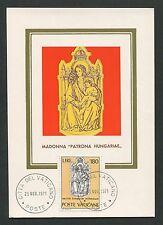 VATICAN MK 1971 MADONNA & JESUS CHRISTUS MAXIMUMKARTE MAXIMUM CARD MC CM d5609