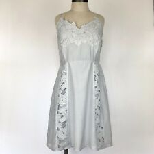 NEW Modcloth Esley Womens Dress Size Large Gray Crochet Lace Lined NWT
