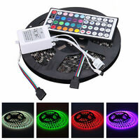 12V 5M Black PCB IP65 Waterproof 5050 SMD RGB 300 LED Strips + 44 KEY IR Remote