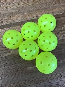 New 6 Franklin X-40 Pickleball Outdoor Ball set of 6  Optic Yellow LL3