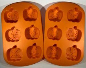 Wilton Halloween Pumpkin Faces * Silicone Chocolate Mold Gelatin Cast Ice Tray