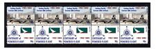 CATHAY PACIFIC CENTENARY FLIGHT STRIP OF 10 MINT VIGNETTE STAMPS, CONVAIR 880