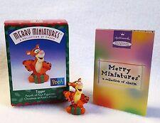 "Merry Miniatures Hallmark Tigger Figurine from Winnie the Pooh Christmas 1.5"""