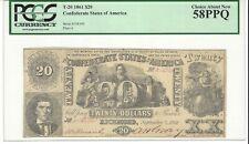 1861, $20 Confederate Note