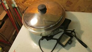 Saladmaster Stainless Steel Electric Skillet Fry Pan No. 7817