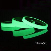 Leucht folie 300mmx15mm nachleuchtend neon fluoreszierend Leuchtband Klebe band