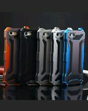 Estuche Impermeable a prueba de choques Aluminio vidrio Gorilla Metal Cubierta iPhone 6S Negro
