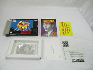 ANIMANIACS Super Nintendo SNES Authentic Box And Inserts NO GAME CART!
