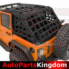 Off Road 2 Door Black Cargo Net System Restraint Net For 07-17 Jeep JK Wrangler