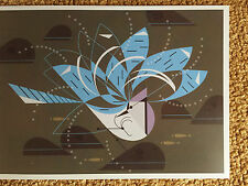 CHARLEY CHARLES HARPER   Bathing Blue Jay New Art print  bird bath minnow splash