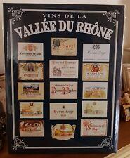 Plaque «vins de la vallée du rhone» 30*40 cm