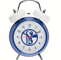 FC Schalke 04 Fanartikel Glocken Wecker Retro Look blau und weiß Alarm Uhr