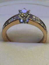 Pave 0,95 Cts Rund Brilliant Cut Natürliche Diamanten Jahrestag Ring In 14K Gold
