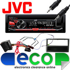 Vauxhall Astra H MK5 JVC CD MP3 USB Car Stereo & BLACK Fitting Kit + Jack Cable