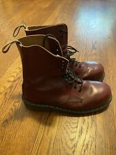 Doc martens Boots Made In England Skinhead Punk Goth Cherry Oxblood UK 10 10eye