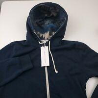 Threads 4 Thought Full Zip Fleece Hoodie Men's Size Large Blue Organic Cotton