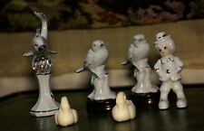 Collection Of four stunning Porcelain Figurines  and two real soaps - swans