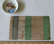 "Rare 14thC Italian Silk Renaissance Stripe Fabric Sample~L-4"" X W-6.5"""