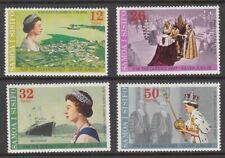 1977 Samoa Queen Elizabeth 11 Silver Jubilee set of 4 mint stamps.