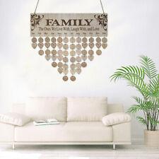 DIY Hanging Wooden Birthday Reminder Calendar Board Plaque Sign Family