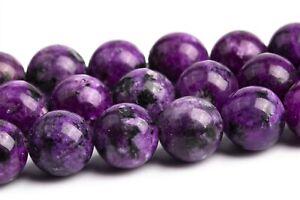 "8MM Violet Jade Beads Grade AAA Round Gemstone Loose Beads 15"""