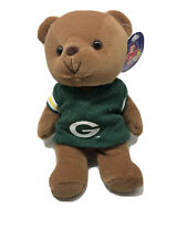 """Green Bay Packers Play Football Fanimals Bear 8"""" Tall Gently Used Condition"""