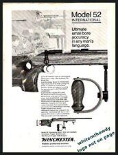 1971 Winchester Model 52 International Match Rifle Print Ad Gun Advertising