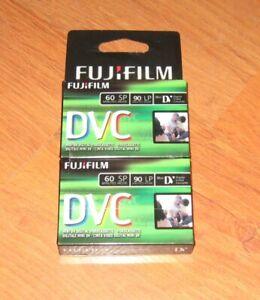 NEW FujiFilm mini DVC DV Digital Videocassette 2 pack 60-90 minutes Video Casset