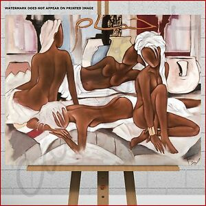 Pierre Farel Abstract Canvas Print Picture Black African Women Bedroom Wall Art