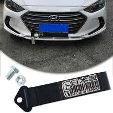 Black JDM Racing Made in Japan Decal Tow Strap Car Front Rear Bumper Towing Hook