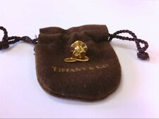Rare Tiffany & Co SS 925 GP Fireman Tie Tac/Hat Pin w/ Original Brown Pouch.