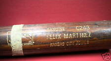 FELIX MARTINEZ Game Used Bat KANSAS CITY ROYALS