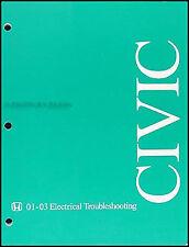 2003 Honda Civic Electrical Troubleshooting Manual Wiring Diagram Book Original