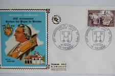 ENVELOPPE PREMIER JOUR SOIE - 1968 ENCLAVE DES PAPES