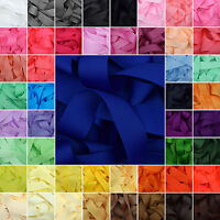 "Grosgrain Ribbon 1 3 or 5 Metre Cut of 50mm - (2"") in 64 Plain Solid Colours"