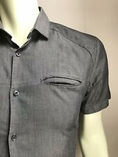 Hugo Boss Shirt, Charcoal Gray, Short-Sleeved, Medium, Exc Cond