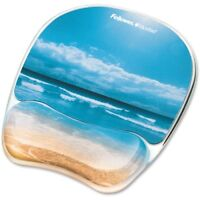 NEW Fellowes 9179301 Microban Photo Gel Mouse Pad Wrist Rest
