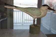 Vintage Hand Carved Wood Shore Bird Decoy Folk Art