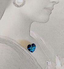 Swarovski Crystal Heart, Crystal Element, Deep Sapphire Blue, 8mm