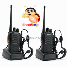 2X BAOFENG BF-888S UHF WALKIE TALKIES 400-470MHz RICETRASMITTENTE CON AURICOLARE