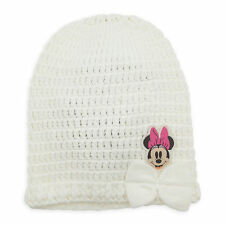 Disney Store Minnie Mouse Embroidered Knit Beanie Toddler Hat w/ Bow 6-12 Months