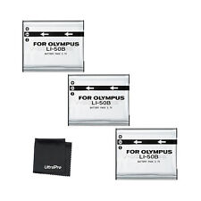 3x LI-50B LI50B Battery + BONUS for Olympus SP-720UZ SP-800UZ SP-810UZ