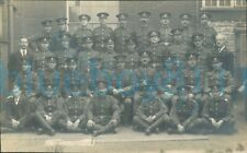 More details for ww1 army pay corps with most soldiers names on back in order group photo
