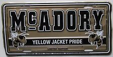McCalla Alabama 1999 McAdory Yellow Jacket Pride Booster License Plate