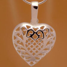 Charming Lovely Heart Flower Pendant Amazing Design Solid 925 Sterling Silver