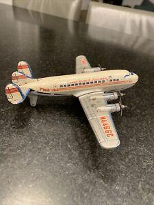 TWA Tin Friction Toy Airplane Trans World Airlines n4466c Lockheed Constellation