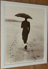 Solitude - Mark Abrahams  -20''x16'' frame, sepia photo print, b&w beach print