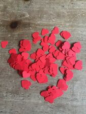 600 ROMANTICO Rosso Carta Cuori Wedding tavolo Decorazione / confetti-1.5 cm